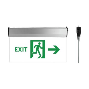 EXIT üveg LED kijáratjelző 3W 2órás jobbra nyíl