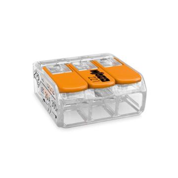 WAGO 221-413 50 db/csomag COMPACT csatos vezetékösszekötő
