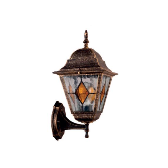 ART Yellow OG antik réz fali lámpakar sárga üveggel