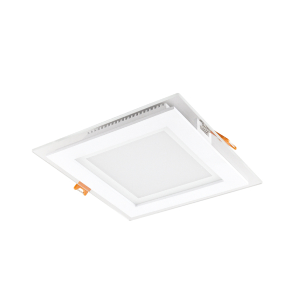 CAPRI GLASS S 12W 3 WHITE szögletes mélysugárzó