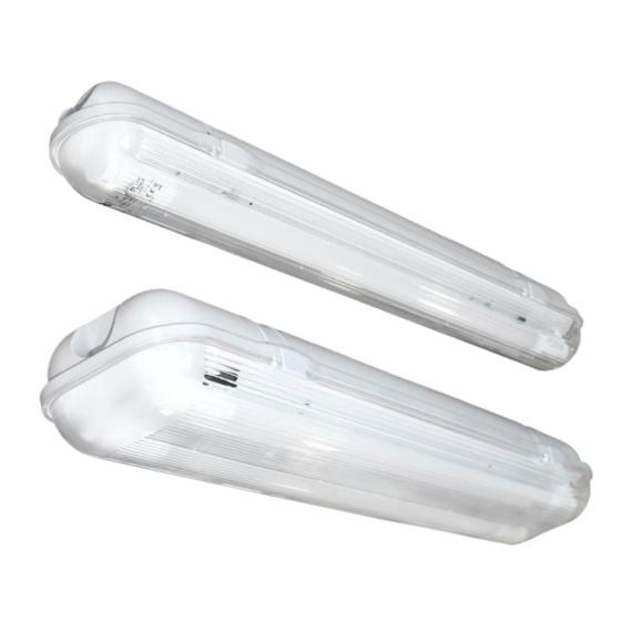 E PLUS PRO 2XL600 IP65 150° por és páramentes lámpatest LED csőhöz előszerelt