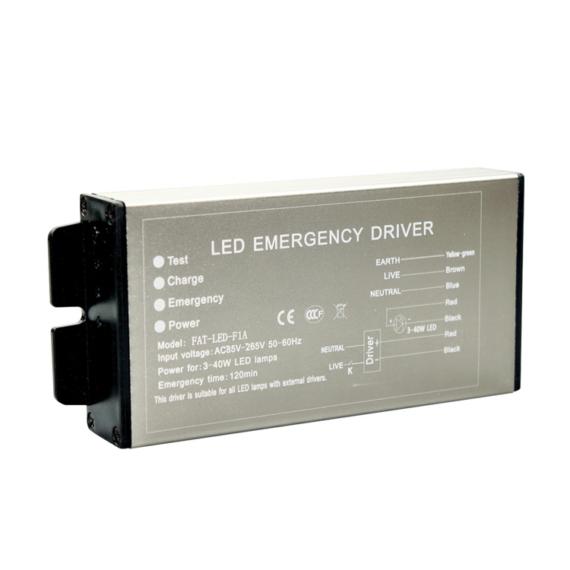 FAT-LED-1FA Vészvilágító inverter és driver 2in1 3-40W 2h
