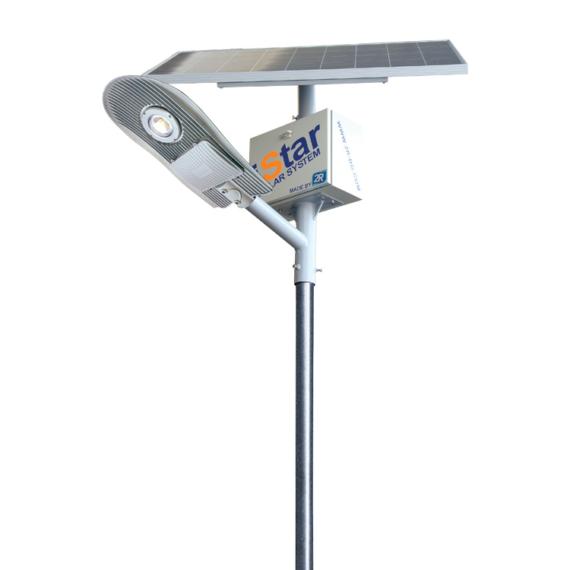 iSTAR Granada SB 15W 12/24V 5000K 80Wp 55Ah solar rendszer 4m-es lámpaoszloppal