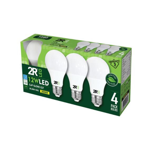 LED CAP GLOBE SET A60 E27 12W 3000K 4db-os szett körte fényforrás