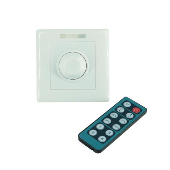 LED DIMMER FOR WALL 230V 1,3A fali fényerőszabályozó távirányítóval