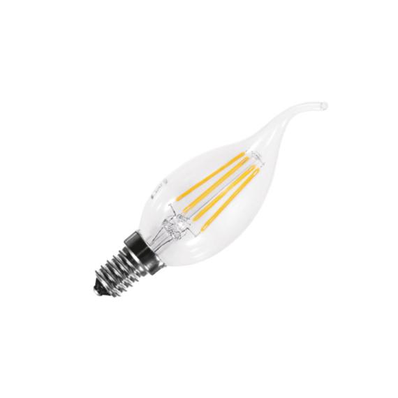 LED FILAMENT BT35 E14 4W 4000K FLAME gyertyaláng fényforrás