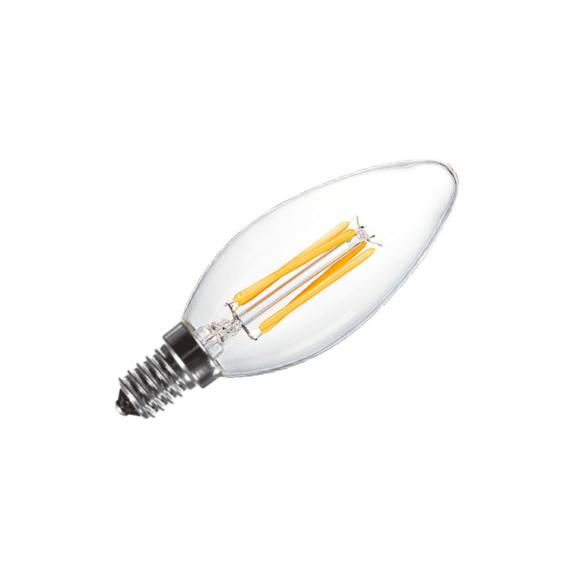 LED FILAMENT C35 E14 4W 2700K gyertya fényforrás
