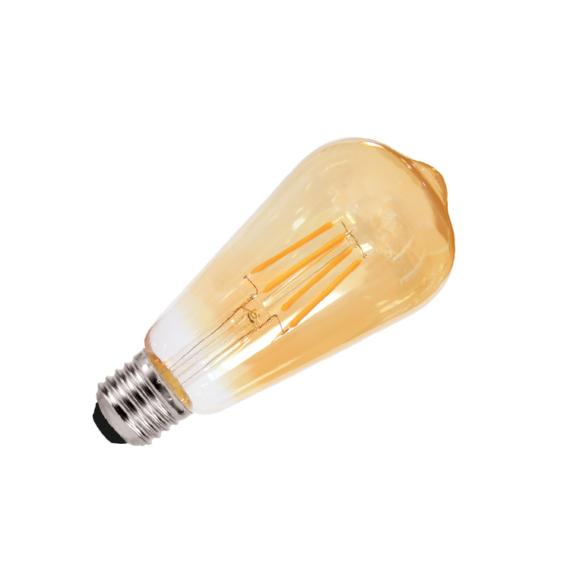LED FILAMENT ST64 E27 4W 2700K fényforrás füstszínű