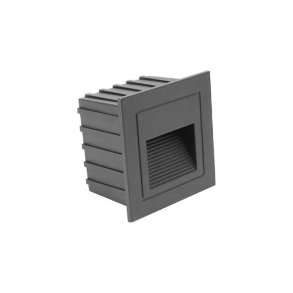 LED STAIR 2W lépcsővilágító lámpatest fekete
