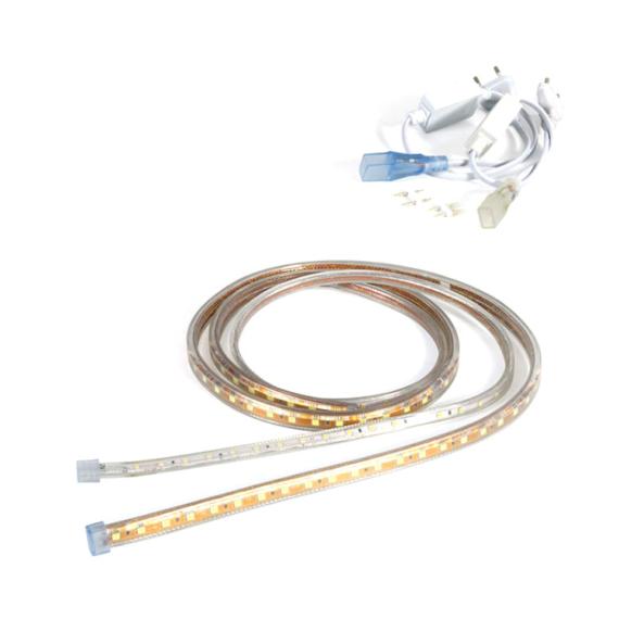 LED szalag 60 2835 3000K IP54 AC230V, 5m/tekercs