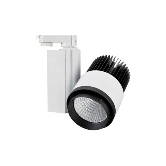 NTRLED306P 45W 3000K krémfehér-fekete egyfázisú sínes lámpatest