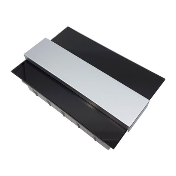 PRO BOX DELUX 8 modulos süllyesztett elosztó doboz Fekete
