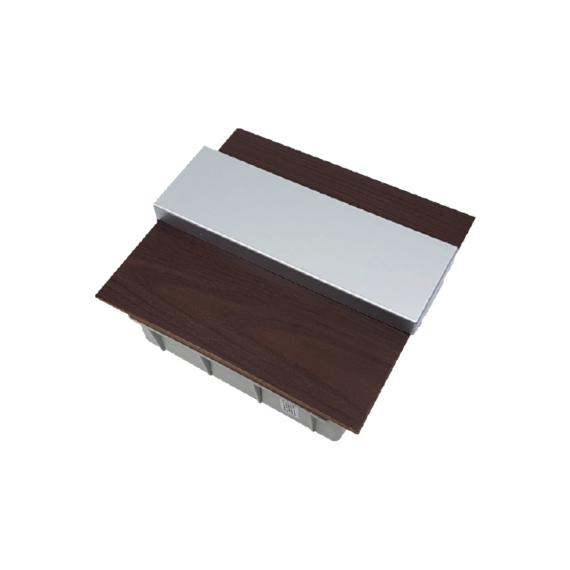 PRO BOX DELUX 8 modulos süllyesztett elosztó doboz Wenge
