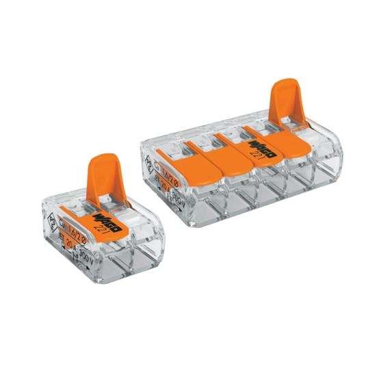 Vezetékösszekötő COMPACT 5 Ways Clamp 2,5mm2 24A 100 db/csomag
