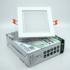 Kép 5/5 - CAPRI GLASS S 12W 3 WHITE szögletes mélysugárzó