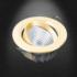 Kép 2/2 - NLED 191D 6W 3000K szpot mélysugárzó arany